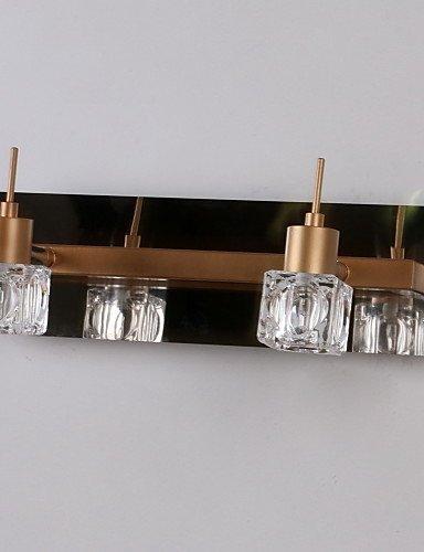 ZQ Kristall Mittel im Lieferumfang enthalten Bad-Wandleuchte, 2 helle, moderne Metall Cognac Galvanik , 220-240v (Klassische Zwei-licht-bad)