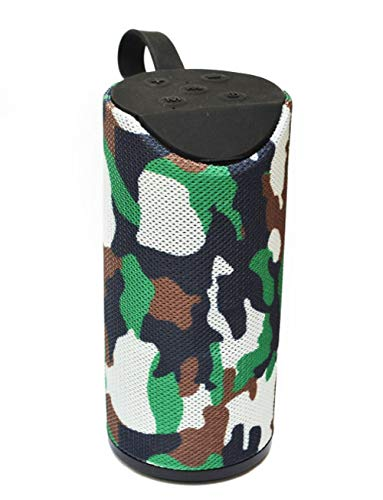 Tragbarer Bluetooth Lautsprecher Soundbox Soundstation Musikbox Radio MP3 SD USB, Farbe: (Camouflage)