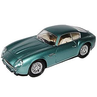 alles-meine.de GmbH Aston Martin DB4 GT Zagato Grün Metallic James Bond 1960-1961 1/18 Yatming Lucky Die Cast Modell Auto mit individiuellem Wunschkennzeichen