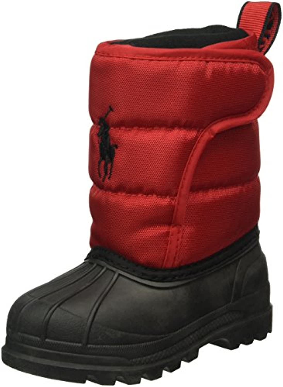 Ralph Lauren Unisex Kids' Hamilten II EZ Ankle Boots, Rot (Red Heavy Nylon), 7 Child UK