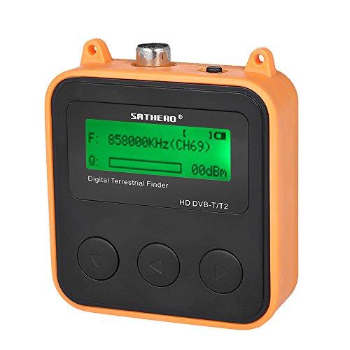 Información del producto: Nombre de la marca: SATHERO Número de modelo: SH-110HD Soporte DVB-T / T2 Soporte QPSK, 16QAM, 64QAM, 256QAM Rango de frecuencia: 174-230MHz (VHF); 474-858MHz (UHF) Nivel de entrada: -85 ~ -20dBm Pantalla: LCD Entrada de ene...