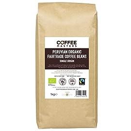 Coffee Masters Peruvian, Organic, Fairtrade, Coffee Beans 1kg