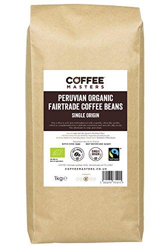 Coffee Masters Peruvian, Organic, Fairtrade, Coffee Beans 1kg 41mShtoKe6L