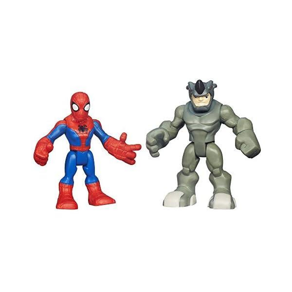Playskool Heroes Marvel Super Hero Adventures Spider-Man y Rhino Cifras 1