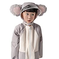 Raincoat Kindergarten Pupils One-piece Waterproof Animal Light Child Poncho Female Boy Mother And Child Book Bag