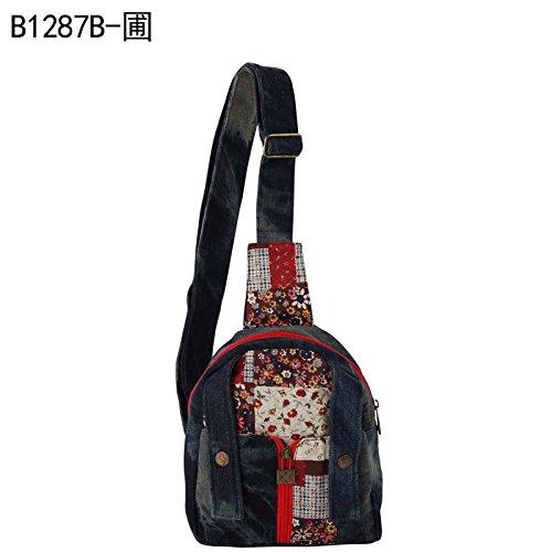 MSZYZ Weihnachtsgeschenke Die Neue Flut des Koreanischen Alle-Match Cowboy Canvas Bag Satchel Bag Persönlichkeit