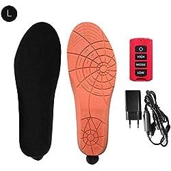 Chauffage Électrique Semelle Chauffante Rechargeable Unisexe Chaussures Pad avec Télécommande sans Fil Hiver Garder Au Chaud pour Outdooor