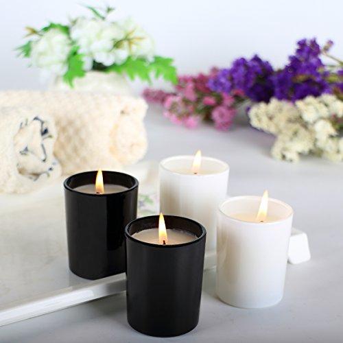 Quatre pièces pack des bougies parfumées aromathérapie parfum cire de soja, gardenia, citronnelle, de pins, de vanille,soja bougie pour le soulagement du stress, cadeau de noël