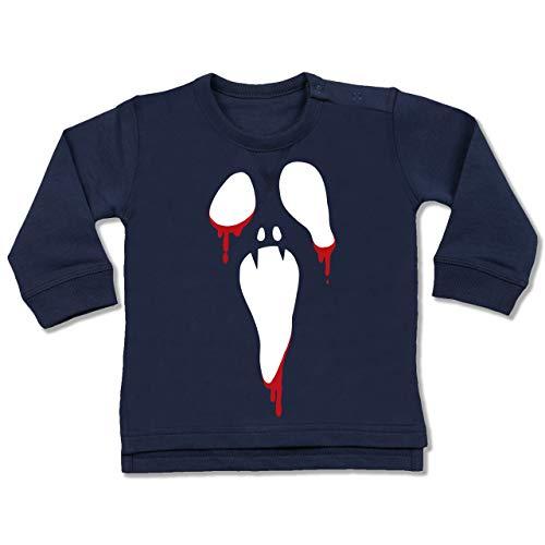 Shirtracer Anlässe Baby - Scream Halloween - 6-12 Monate - Navy Blau - BZ31 - Baby Pullover