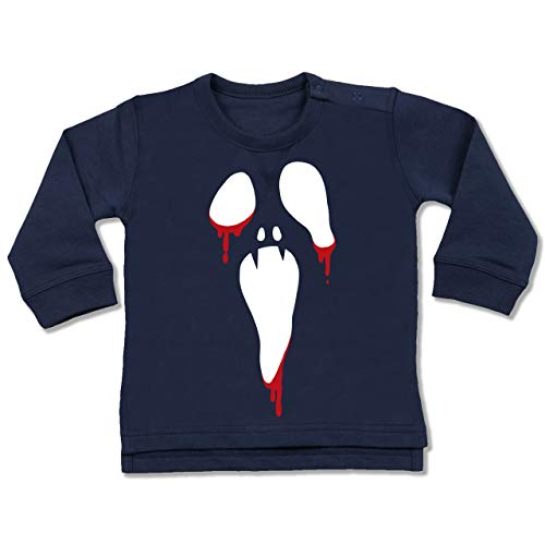 Baby - Scream Halloween - 6-12 Monate - Navy Blau - BZ31 - Baby Pullover ()