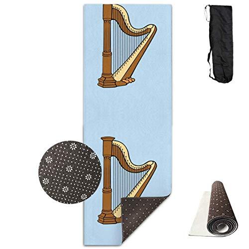 Bag shrot Yoga Mat Non Slip Harp 24 X 71 Inches Premium Fitness Exercise Pilates Carrying Strap Pro-lite Cap