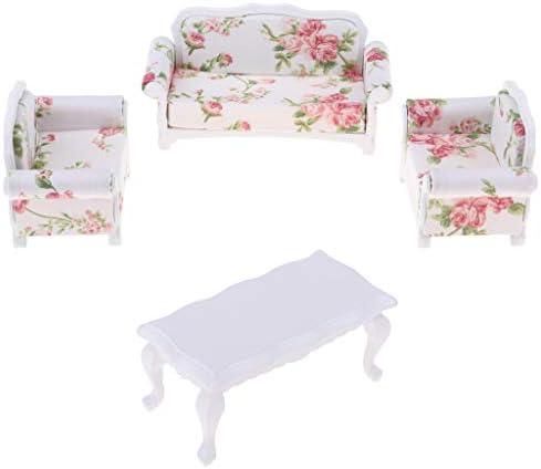 P Prettyia 1/12 Scale Miniature Sofa Floral Table Meubles Meubles Table de Maison de Poupée Cadeau d'anniversaire pour   B07MLS8M7H b94eb6