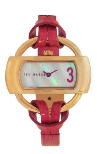 Ted Baker TE2075 - Reloj analógico de cuarzo para mujer con correa de piel, color rojo