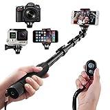 Arespark S4 Selfie Stick,Dual-purpose Professional Self Portrait Pole Monopod mit Stativadapter drahtlose Bluetooth Kamera Fernbedienung