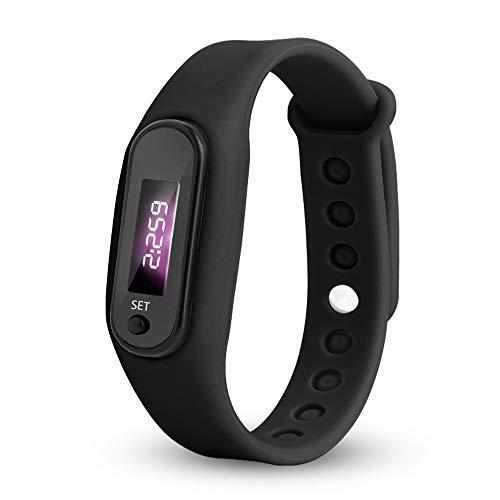 IG-Invictus Run Step Watch Armband Schrittzähler Kalorienzähler Digital LED Gehweg HZ-75 Schrittzähler Elektronische Uhr (3. Generation)