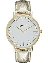 Cluse Reloj Analógico Automático para Mujer con Correa de Cuero – CL18421