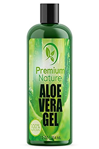 Aloe Vera Gel for Face Body & Hair - 354 ml Pure & Natural Soothes Eczema After Sun Skin Care - Bug or Insects Bites Razor Bumps and Acne Premium