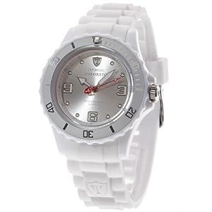 Detomaso DT3007-A – Reloj analógico de Cuarzo para Mujer, Correa de Silicona Color Blanco (Agujas luminiscentes, Cifras luminiscentes)