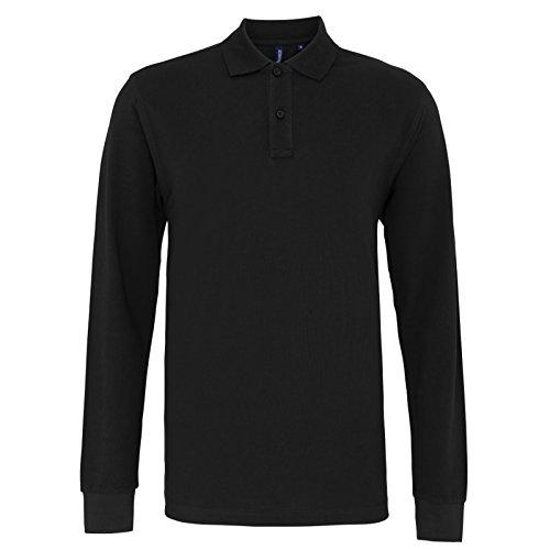 Asquith Fox Herren Modern Poloshirt XXX-Large Schwarz