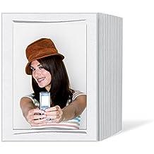 Daiber–Rollo de cinta de espacios para fotos, cartulina fotográfica seda mate con pincel strichen para formato de imagen, 13x 18cm, 125unidades), color gris
