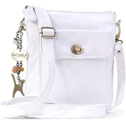 CATWALK COLLECTION - Laura - Bolso bandolera - Cuero - Blanco