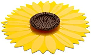Charles Viancin Couvercle hermétique en silicone Tournesol, Silicone, jaune, 23 cm/9 inch
