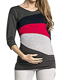 48004e951135 Battercake Abbigliamento Premaman Donna Autunno Inverno Camicia per  maternità Casuale Donne Allattamento L Camicia maternità maternità
