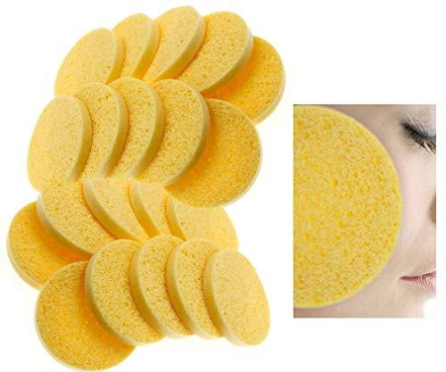D2D 20 esponjas faciales celulosa Naturales Limpieza