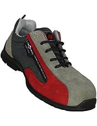 CiEsseCi - Calzado de protección de Piel para hombre Gris Grigio scuro 44  Beige (Taupe) OLdzbMgw