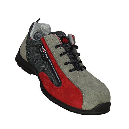 Aimont Charlie S1p Src Sapatos De Segurança Sapatos De Ações Cinza Plana