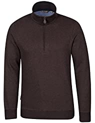 Mountain Warehouse Journey T-shirt Homme Zip Doux Respirant Coton Polyester