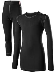 Löffler Set KL. Transtex Warm 3/4 Hose - Pantalón interior térmico para niño, color negro, talla 10 años (140 cm)