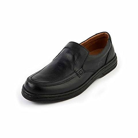 SoftWalk Adam Noir Confort, Coupe Large, Mocassins, Décontracté - noir - noir, 47