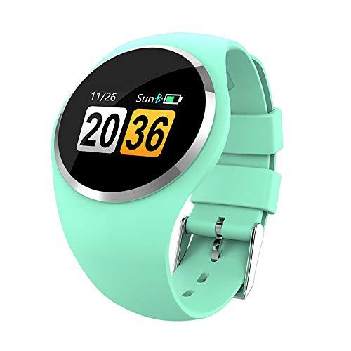 PENGWH Farbdisplay Runder Bildschirm Intelligentes Armband IP68 Wasserdichtes Herzfrequenz-Blutdruck-Blutsauerstoff-Training Lange Standby-Zeit für vielbeschäftigte Junge Leute in der Stadt,Green