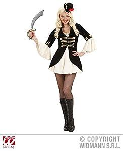 WIDMANN wdm76371?Disfraz para adulto Capitán Pirata para mujer, blanco, S