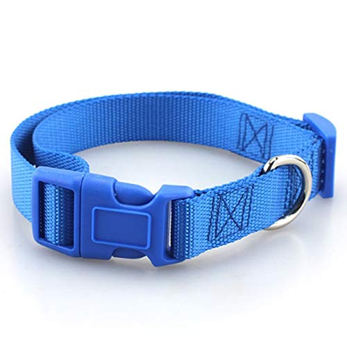 Stephanie Collars - pet Dog Collar Classic solid Basic Polyester Nylon Dog Collar with Quick snap Buckle, can Match Leash & Harness - by 1 PCs -