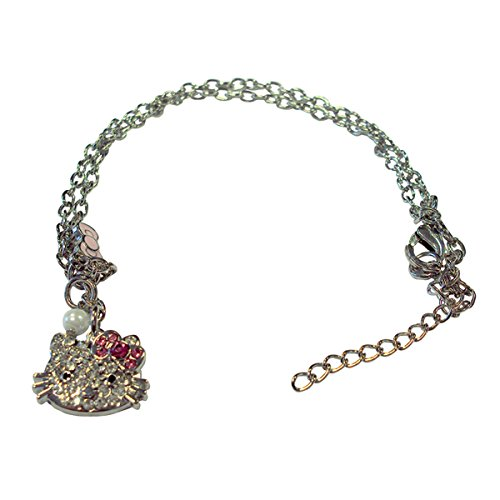 Charm Silber Farbige Mädchen Armband (Mädchen Kitty Kostüme)
