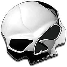 EQLEF® 3D cranio del metallo auto & Moto Adesivi cranio emblema accessori adesivo automobile che (Emblema Del Metallo)