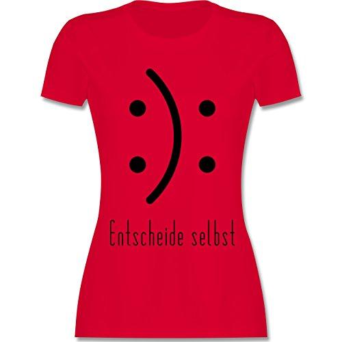 Symbole - Entscheide selbst Smile - tailliertes Premium T-Shirt mit Rundhalsausschnitt für Damen Rot