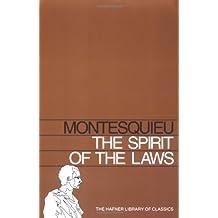 SPIRIT OF THE LAWS (Hafner Library of Classics) by Baron de Montesquieu (1970-01-01)