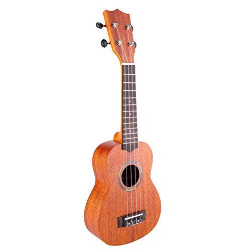 RiToEasysports 21inch Ukulele Gitarre Vier Saiten Ukulele Gitarre für Kinder Mahagoni Holz Hawaii Gitarre Ukulele Hellbraun Ukulele Gitarre Portable für Akustikgitarre.