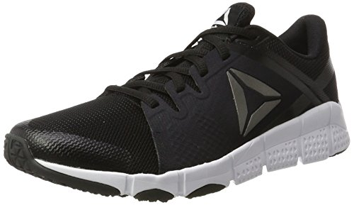 Reebok Trainflex, Scarpe Sportive Indoor Uomo Nero (Black/white/pewter)