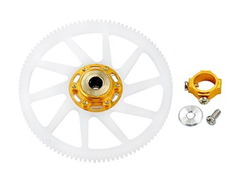 Microheli CNC Delrin Main Gear w/ Auto-Rotation Hub set (GOLD) (for MH-18FX067X series) by Microheli Co.
