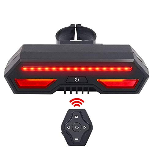 Houkiper COB LED EnSca Lentille Feux De V/élo Clignotant Lumi/ère De Frein USB Rechargeable