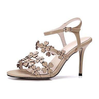 Sandali Primavera Estate Autunno Slingback Vacchetta Office & Carriera Party & abito da sera Stiletto Heel fiore mandorle verdi Almond