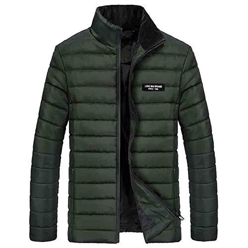 Abbigliamento uomo ashop sottile caloroso cappotto invernale manica lunga cardigan giacca moda mens imbottita da in tinta unita verde militare x-large