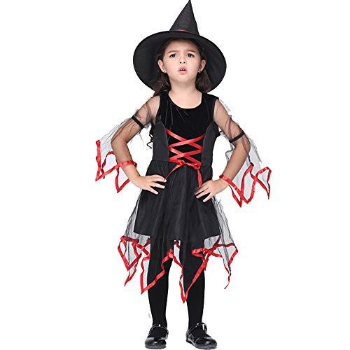 Apokalyptische Kostüm - XDXDO Halloween Kinderkleidung Performance Kostüme Hexenset Für Kostümball Halloween Party Girl Maskerade Dance Kostüme,L(115cm~125cm