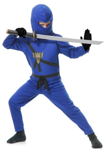 Child Blue Ninja Master Fancy dress costume X-Small ()