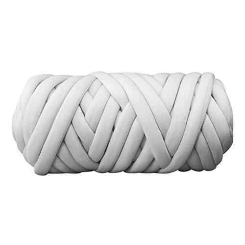 klobige Garn Super sperrige Armstricken Acrylwolle bernat Babydecke Garnrolle weich flauschig groß für Häkeln - hellgrau (Super Sperrige Garn Für Teppiche)
