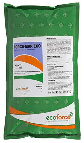 CULTIVERS Force-Mar Eco de 1 kg. Fertilizante ecológico de Algas Ascophyllum Nodosum 100%. Ayudan a la Planta a tolerar eficazmente Las Condiciones Adversas
